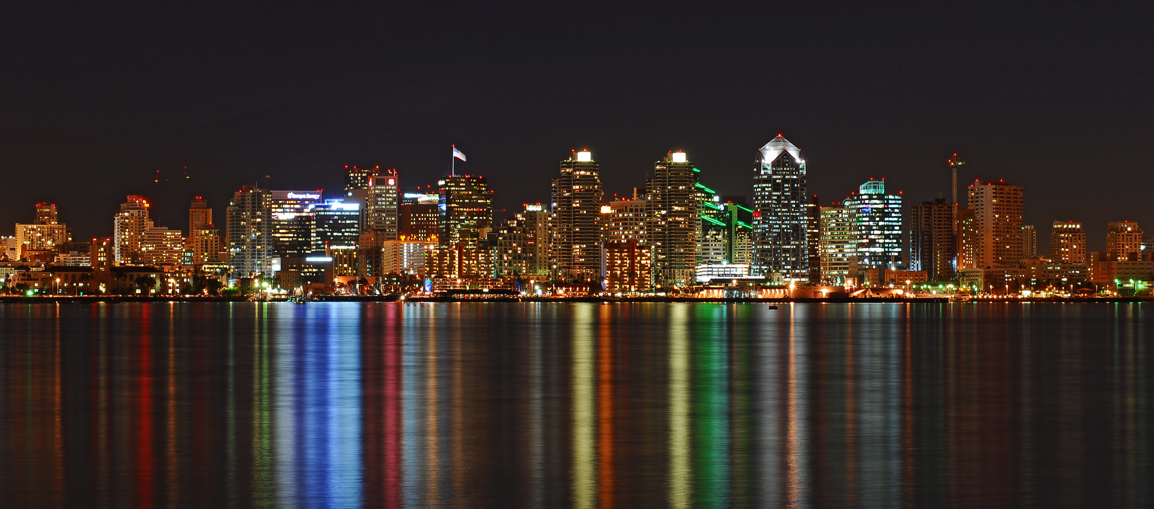 Image of San Diego at night