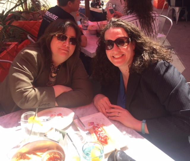 Dana with Susan Mazrui of AT&T