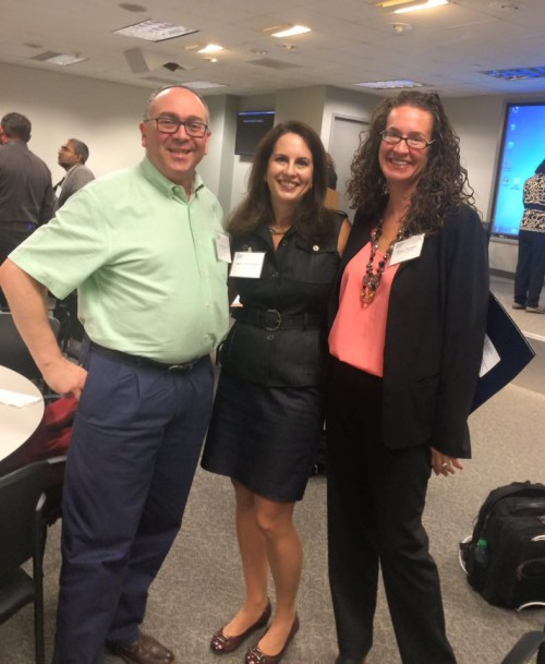 Image of Dana Marlowe with fellow conference participants Gary Morin and Sam Meklir