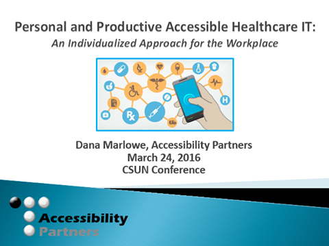 Title slide of Accessibility Partner's presentation