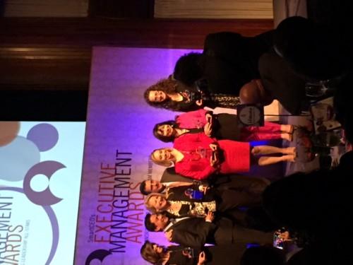 Dana with fellow award winners