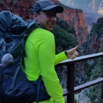 Ryan with a large backpack in the Grand Canyon