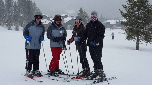 Ryan skiing with friends