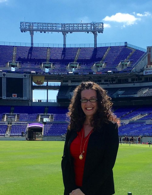 Dana on M&T Bank field in Baltimore