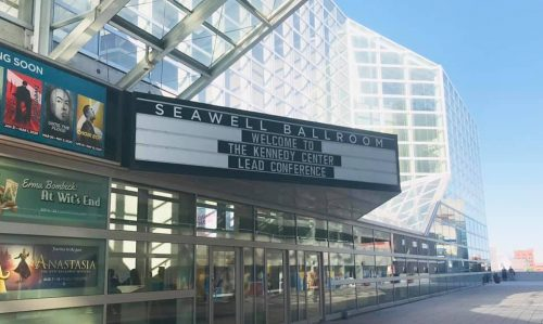 Marquee at the Seawall Ballroom that is welcoming participants to LEAD 2019